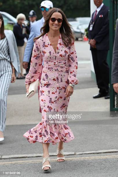 Pippa Matthews attends Men's Final Day at the Wimbledon 2019 Tennis Championships at All England Lawn Tennis and Croquet Club on July 14, 2019 in...