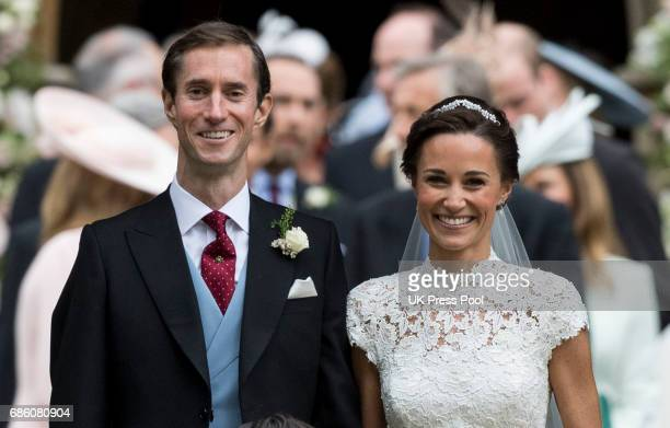 Pippa Middleton and James Matthews after their wedding at St Mark's Church on May 20 2017 in Englefield Green England