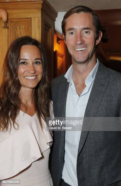 Pippa Middleton and James Matthews attend The Miles Frost Fund party at Bunga Bunga Covent Garden on June 27 2017 in London England