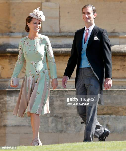 Pippa Middleton and James Matthews attend the wedding of Prince Harry to Ms Meghan Markle at St George's Chapel Windsor Castle on May 19 2018 in...
