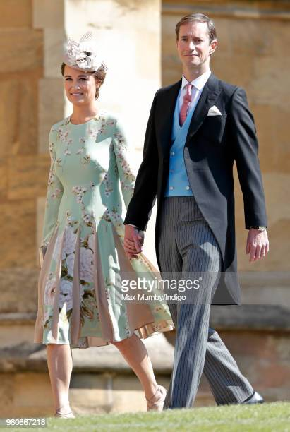 Pippa Middleton and James Matthews attend the wedding of Prince Harry to Ms Meghan Markle at St George's Chapel, Windsor Castle on May 19, 2018 in...