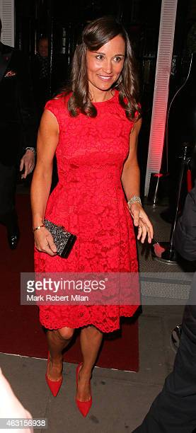 Pippa Middleton attend the inaugural Roll Out The Red Ball in aid of the British Heart Foundation at The Park Lane Hotel on February 10 2015 in...