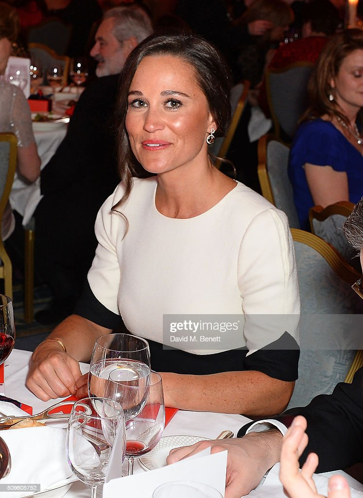 Pippa Middleton attends a drinks reception during the British Heart Foundation: Roll Out The Red Ball at The Savoy Hotel on February 11, 2016 in London, England.