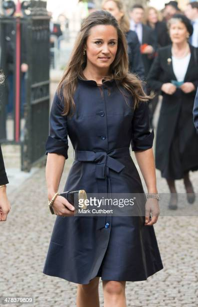 Pippa Middleton attends a memorial service for Sir David Frost at Westminster Abbey on March 13 2014 in London England