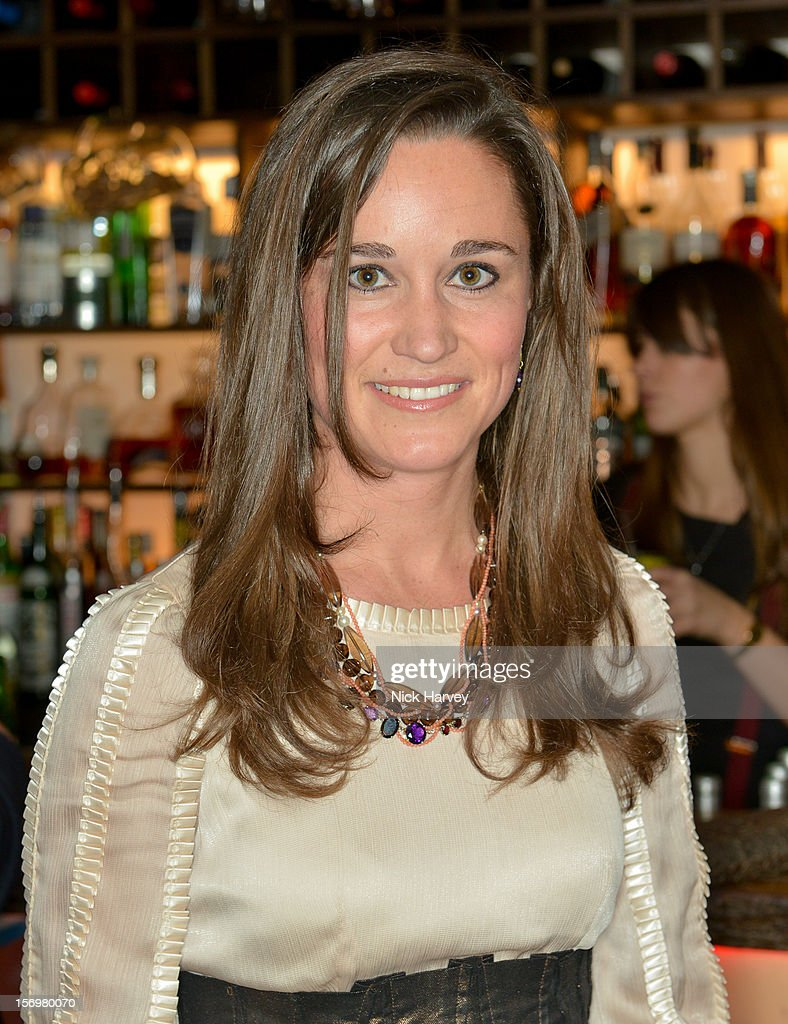 Pippa Middleton attends a party to celebrate the best of W&W Jewellery at Barts bar on November 26, 2012 in London, England.