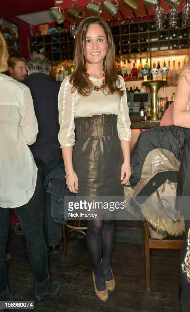 Pippa Middleton attends a party to celebrate the best of WW Jewellery at Barts bar on November 26 2012 in London England