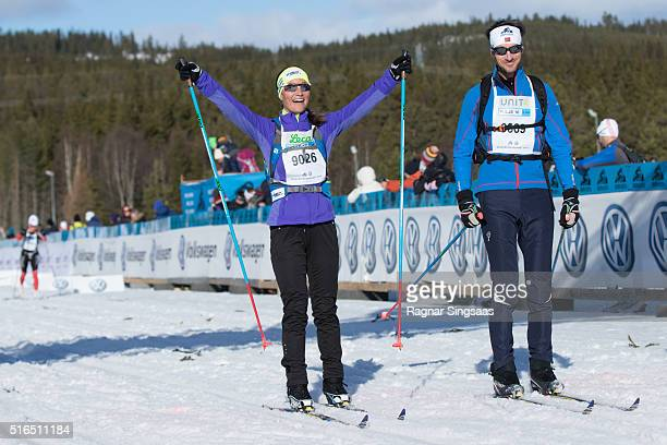 Pippa Middleton attends Birkenbeinerrennet ski race on March 19 2016 in Lillehammer Norway