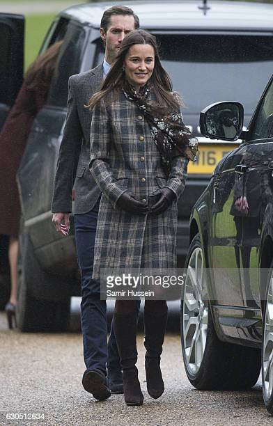 Pippa Middleton attends church on Christmas Day on December 25 2016 in Bucklebury Berkshire