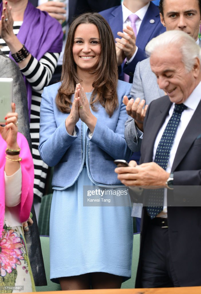 Pippa Middleton attends Day 1 of the Wimbledon 2013 tennis championships at Wimbledon on June 24, 2013 in London, England.