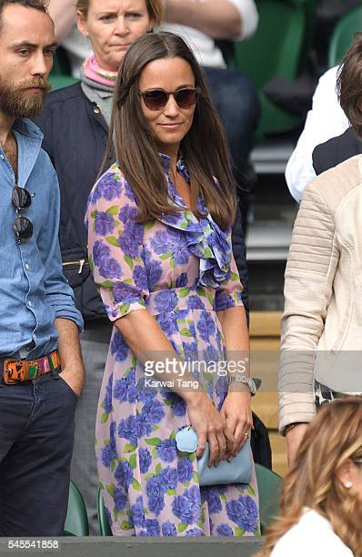 Pippa Middleton attends day eleven of the Wimbledon Tennis Championships at Wimbledon on July 08 2016 in London England