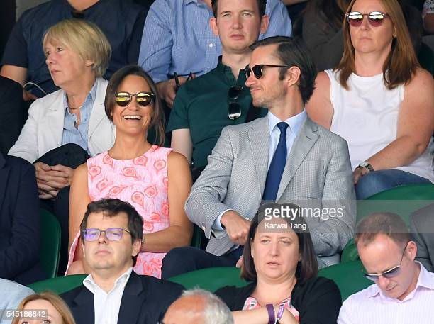 Pippa Middleton attends day nine of the Wimbledon Tennis Championships at Wimbledon on July 06 2016 in London England