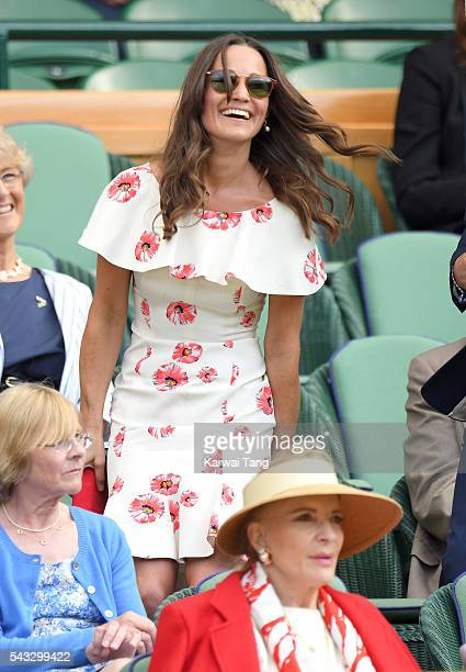 Pippa Middleton attends day one of the Wimbledon Tennis Championships at Wimbledon on June 27 2016 in London England