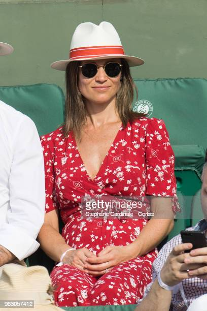 Pippa Middleton attends the 2018 French Open Day One at Roland Garros on May 27 2018 in Paris France