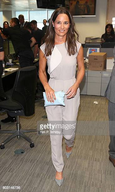Pippa Middleton attends the BGC Annual Global Charity Day at Canary Wharf on September 12 2016 in London England