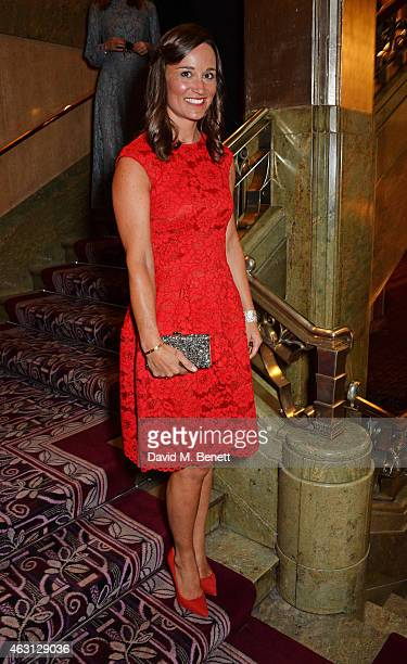 Pippa Middleton attends the inaugural Roll Out The Red Ball in aid of the British Heart Foundation at The Park Lane Hotel on February 10 2015 in...