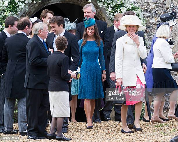 Pippa Middleton attends the wedding of James Meade And Lady Laura Marsham at Gayton Hall on September 14 2013 in King's Lynn England