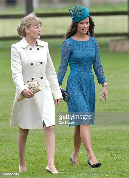 Pippa Middleton attends the wedding of James Meade And Lady Laura Marsham on September 14 2013 in King's Lynn England