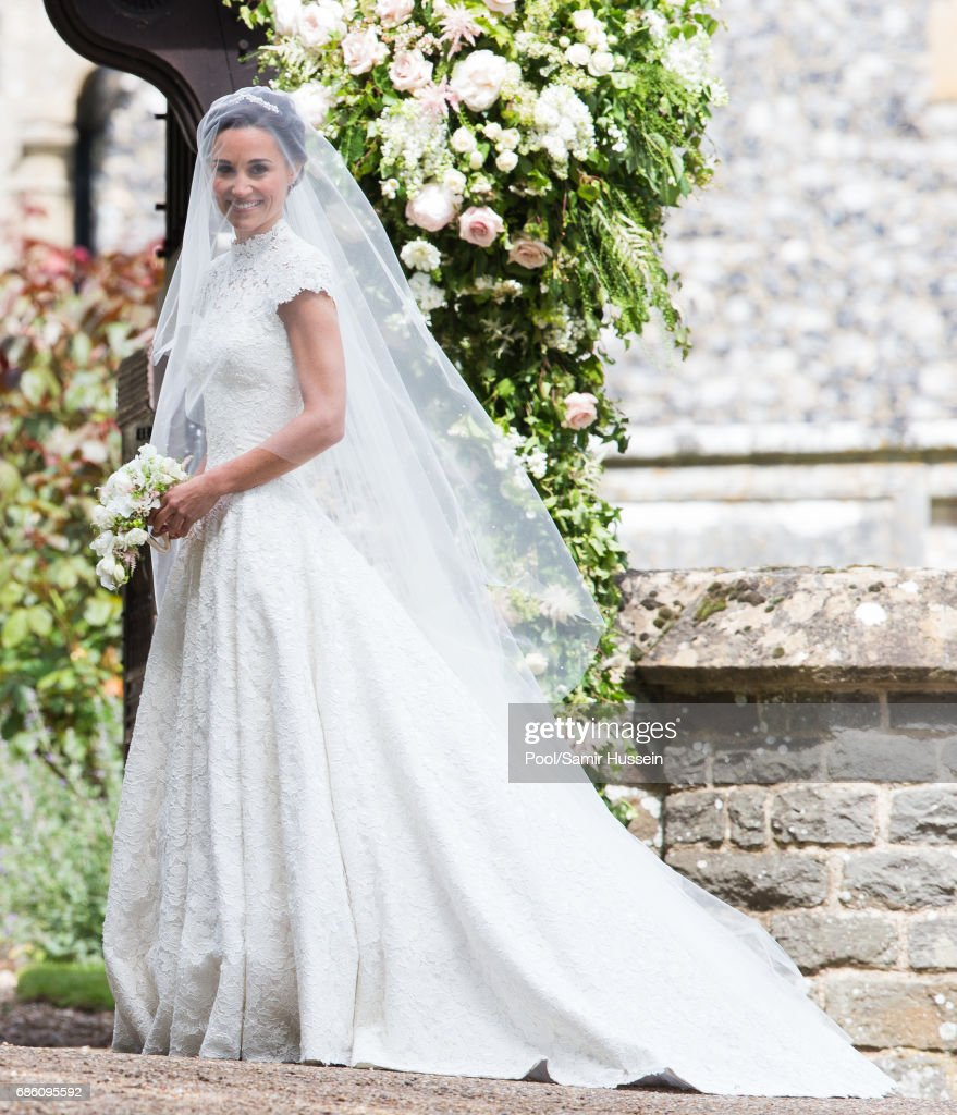 Pippa Middleton attends the wedding Of Pippa Middleton and James Matthews at St Mark's Church on May 20, 2017 in Englefield Green, England.