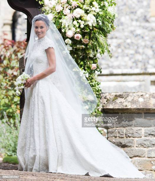 Pippa Middleton attends the wedding Of Pippa Middleton and James Matthews at St Mark's Church on May 20 2017 in Englefield Green England