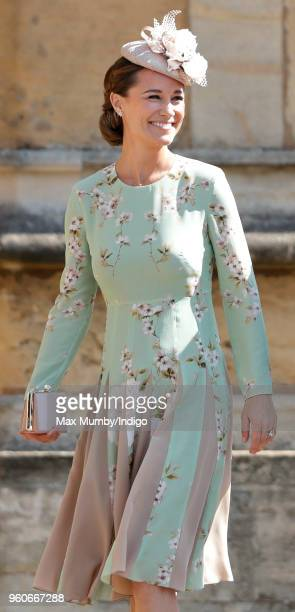 Pippa Middleton attends the wedding of Prince Harry to Ms Meghan Markle at St George's Chapel Windsor Castle on May 19 2018 in Windsor England Prince...