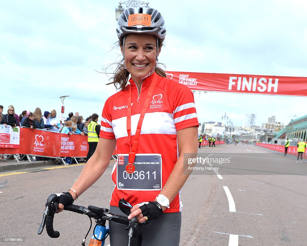 Pippa Middleton Finishes London To Brighton Bike Ride For British Heart Foundation : News Photo