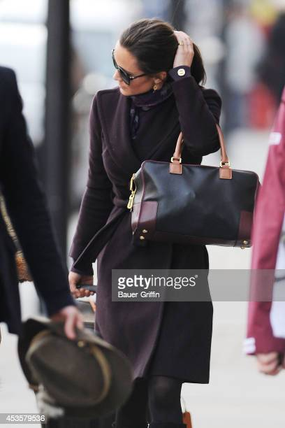 Pippa Middleton is seen at St Pancras Station on November 30 2012 in London United Kingdom