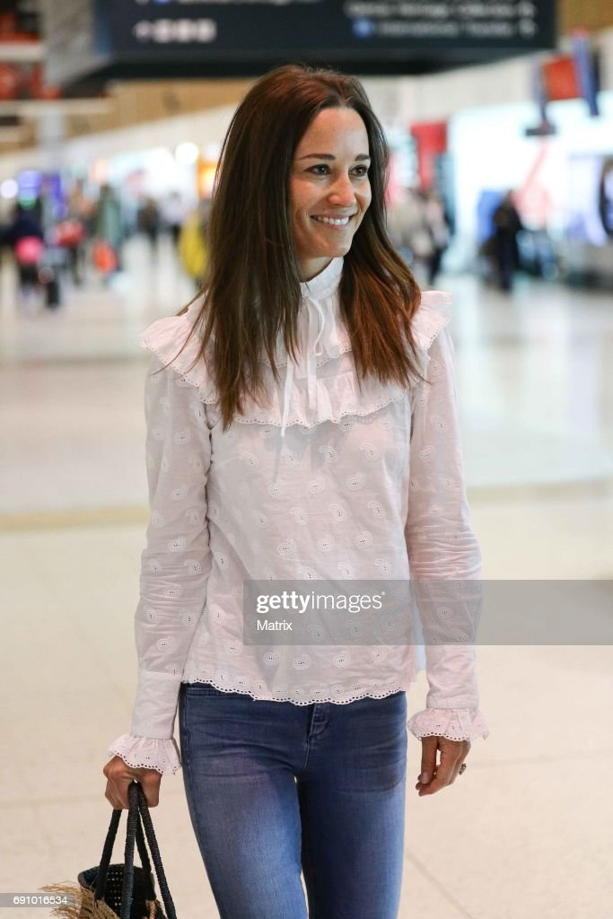 Pippa Middleton is seen at Sydney airport on June 1, 2017 in Sydney, Australia.