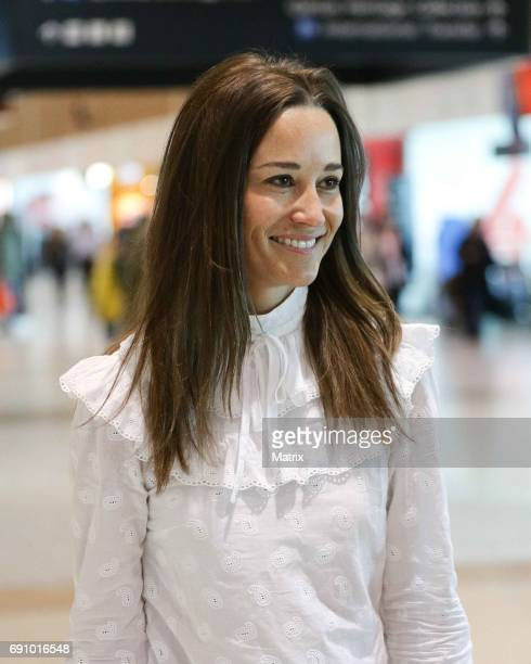 Pippa Middleton is seen at Sydney airport on June 1 2017 in Sydney Australia