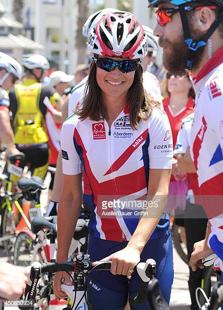 Pippa Middleton is seen at the Race Across America event in Oceanside California on June 14 2014 in San Diego California