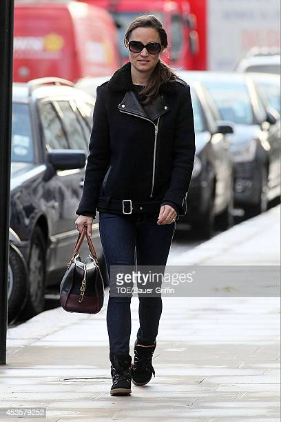 Pippa Middleton is seen on December 07 2012 in London United Kingdom