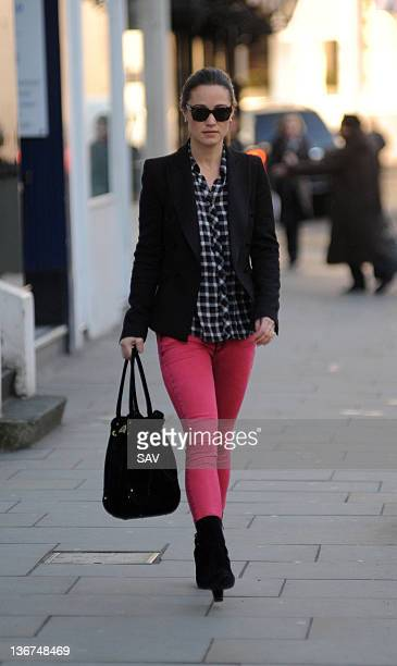 Pippa Middleton is sighted on January 11 2012 in London England