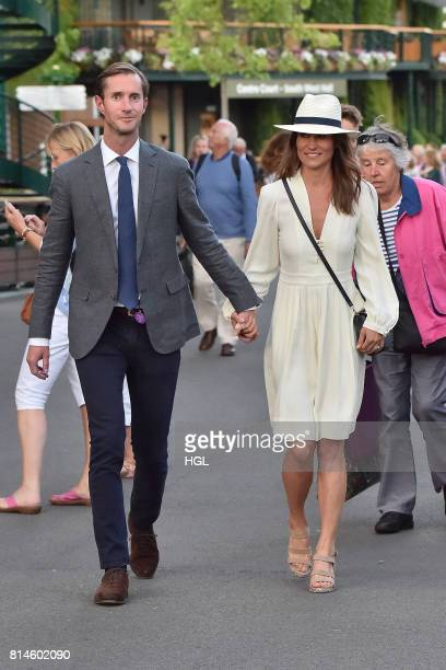 Pippa Middleton James Matthews seen at Day 11 of Wimbledon 2017 on July 14 2017 in London England