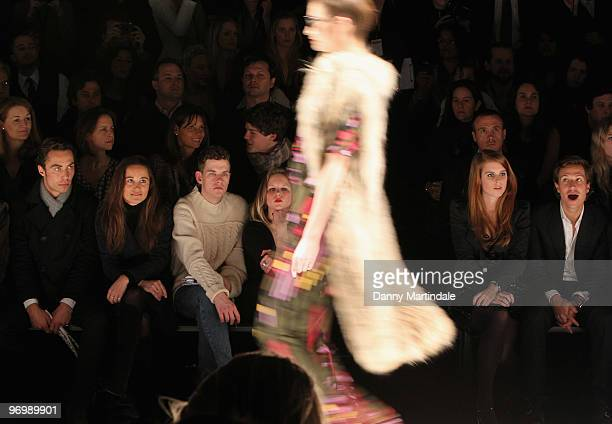 Pippa Middleton James Middleton Princess Beatrice and boyfriend Dave Clark on the front row at the Issa London show for London Fashion Week...