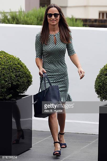 Pippa Middleton leaves home on July 21 2016 in London England
