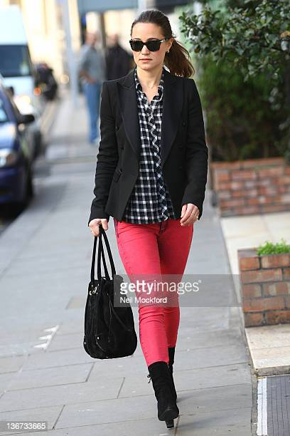 Pippa Middleton seen arriving at her office on January 11 2012 in London England
