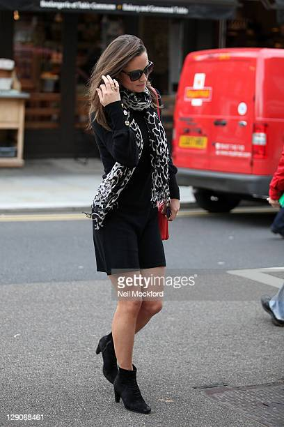 Pippa Middleton seen arriving at her office on October 12, 2011 in London, England.