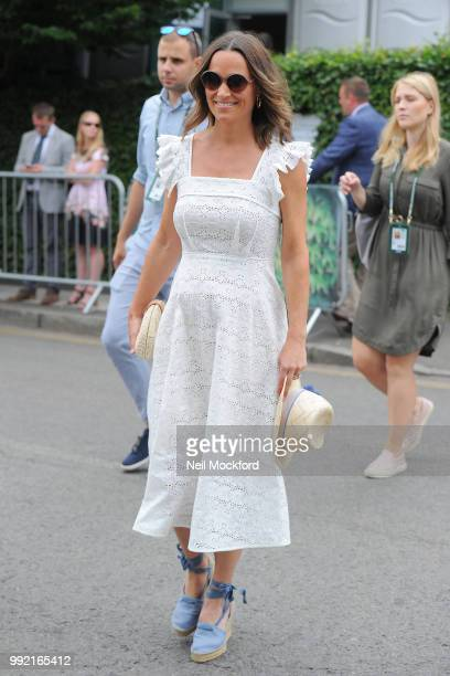 Pippa Middleton seen arriving at Wimbledon Day 4 on July 5 2018 in London England