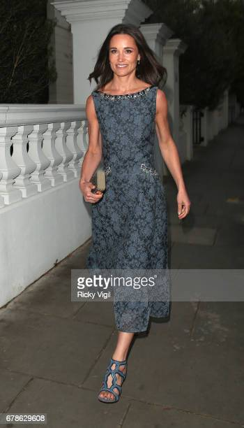 Pippa Middleton seen heading to ParaSnowBall 2017 fundraiser held at The Hurlingham Club on May 4 2017 in London England