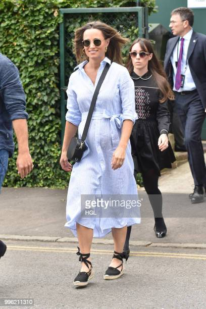 Pippa Middleton seen on day nine of The Championships at Wimbledon London on July 11 2018 in London England