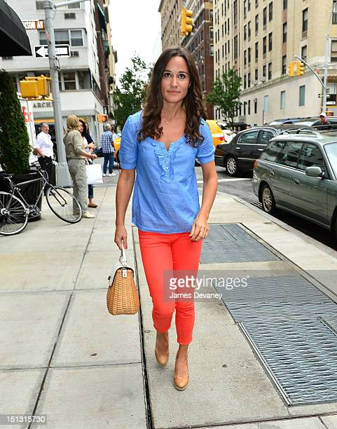 Pippa Middleton seen on streets of Manhattan on September 5 2012 in New York City