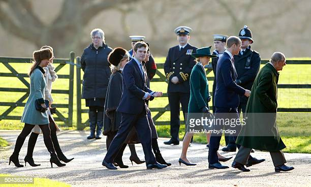 Pippa Middleton Sophie Carter James Meade Catherine Duchess of Cambridge Lady Penny Brabourne Prince William Duke of Cambridge and Prince Philip Duke...