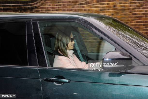 Pippa Middleton the sister of Catherine Duchess of Cambridge leaves Kensington Palace by car on April 24 2018 in London England The Duke and Duchess...