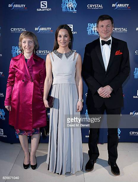Pippa Middleton with Tamsin Todd and Mathew Prior of Crystal Ski Holidays at Disability Snowsport UK ParaSnowBall 2016 sponsored by Crystal Ski...