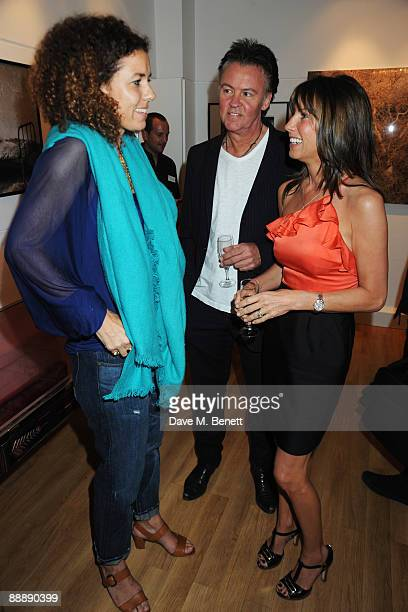 Pippa Small and Stacey and Paul Young attend the Little Black Gallery Summer Party at the Little Black Gallery on July 7 2009 in London England