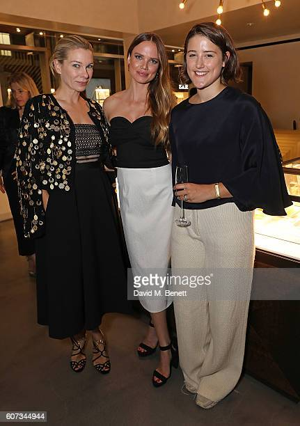 Pippa Vosper Alicia Rountree and Charlie May attend an intimate dinner hosted by Monica Vinader to celebrate Fashion Artist Jenny Walton's...