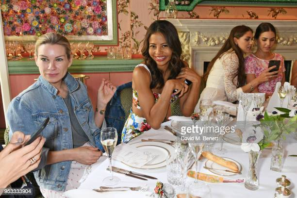 Pippa Vosper Viscountess Emma Weymouth Lady Sabrina Percy and Amber Le Bon attend the launch of BeeBazaarcouk supported by PerrierJouet at Annabel's...