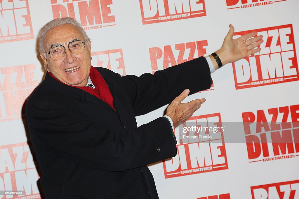 Pippo Baudo attends the 'Pazze di Me' premiere at Teatro Sistina on January 21, 2013 in Rome, Italy.