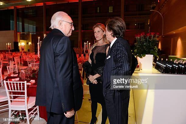 Pippo Baudo Luca Cordero di Montezemolo and his wife Ludovica Andreoni attend the Gala Telethon 2013 Roma during The 8th Rome Film Festival on...