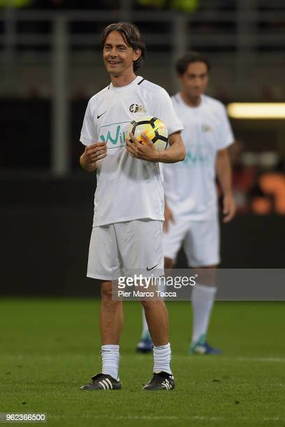 Pippo Inzaghi looks during Andrea Pirlo Farewell Match at Stadio Giuseppe Meazza on May 21 2018 in Milan Italy