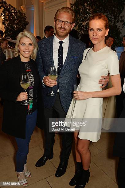 Pips Taylor, Alistair Guy and Barbora Bediova attend the launch of British fashion brand Sienna Jones' debut collection 'The Marina Range' at The...